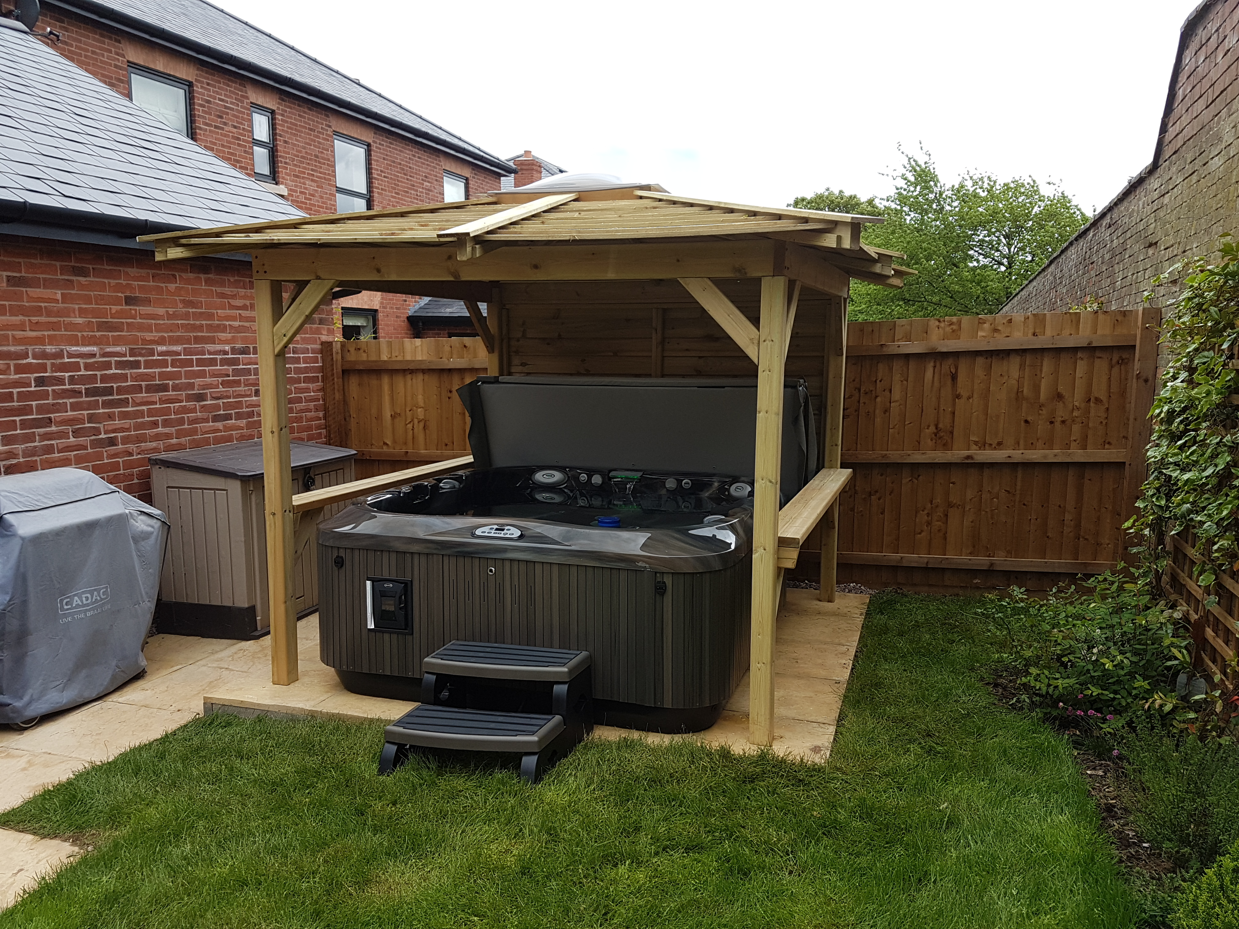 Hydrolife Hot Tubs installation photo