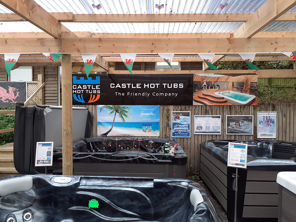 Castle Hot Tubs showroom photo