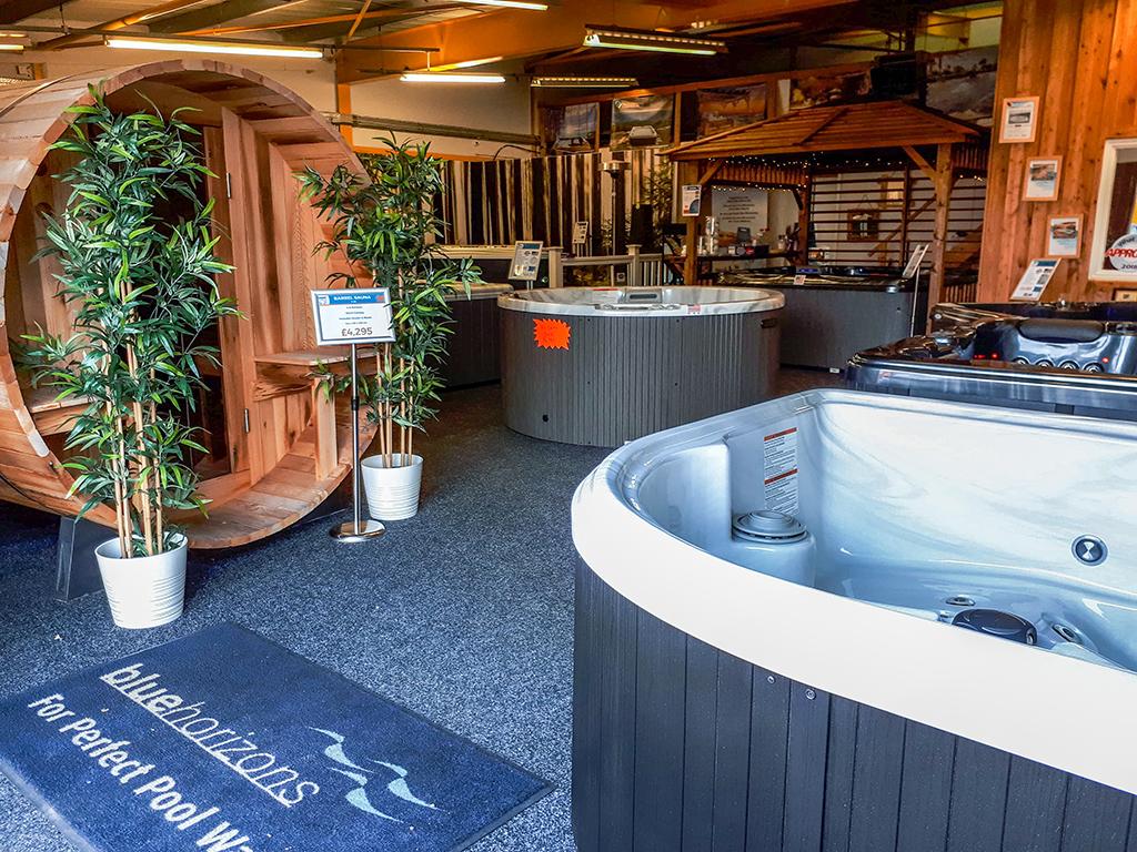 Castle Hot Tubs showroom photo