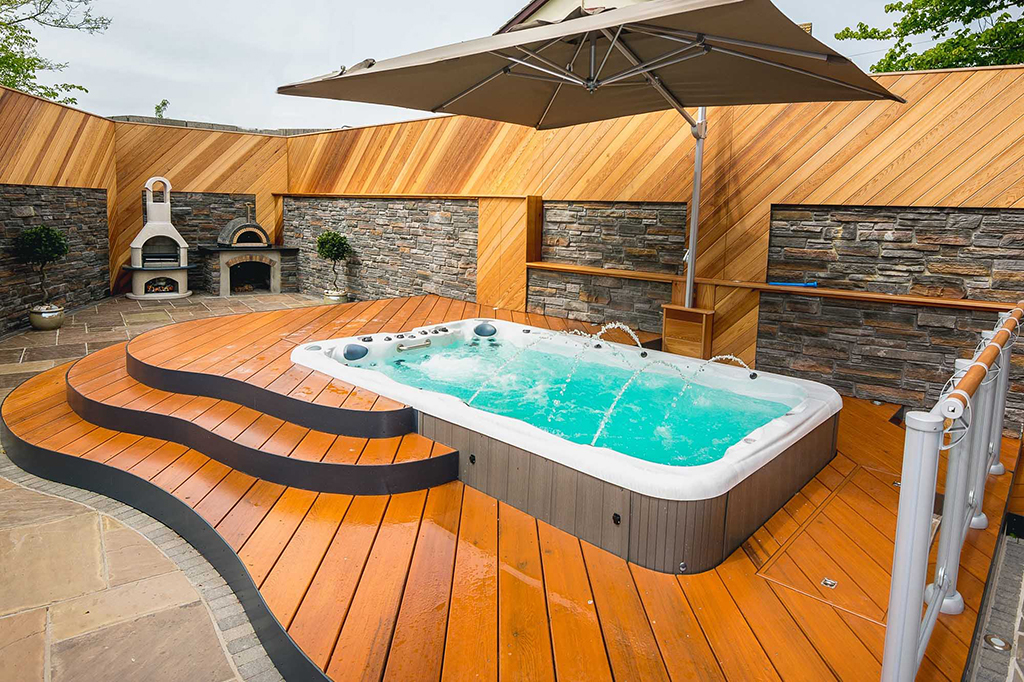 Castle Hot Tubs installation photo