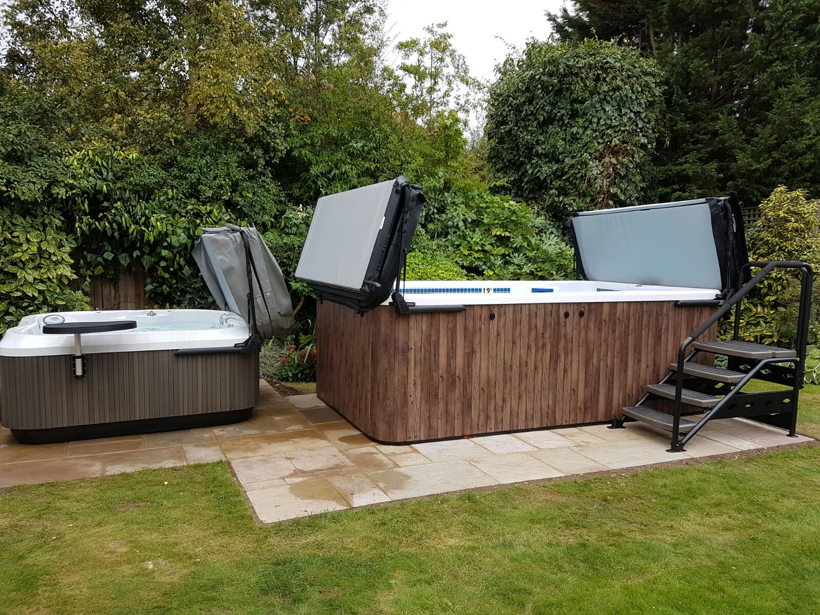 Hydrolife Hot Tubs Northants installation photo