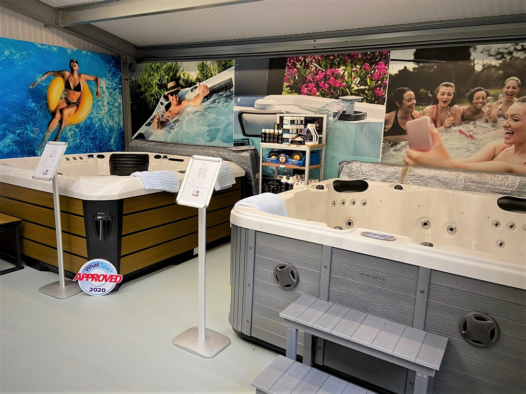 Blue Cube Pools showroom photo