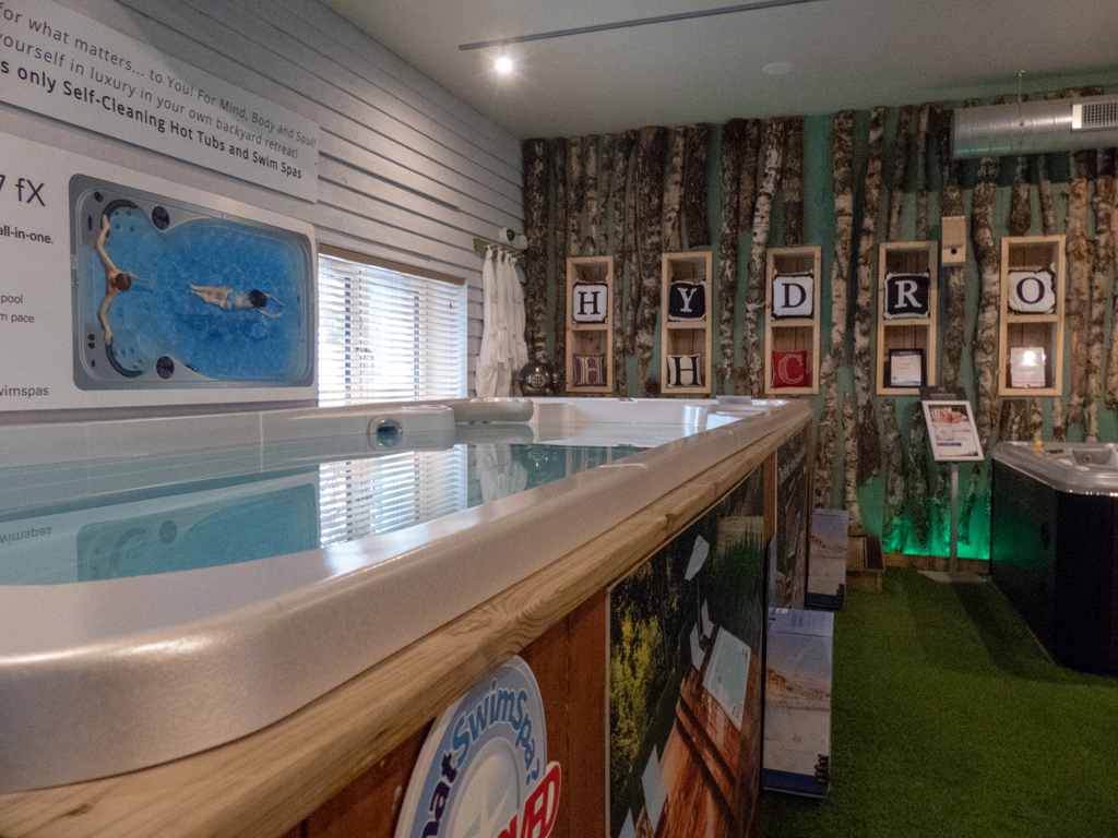 Hydropool Highlands Scotland showroom photo