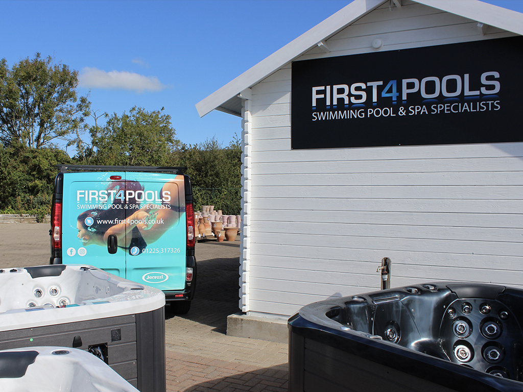 First 4 Pools Cheddar showroom photo