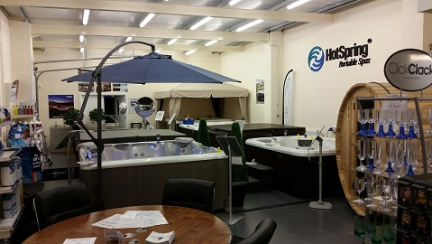 Blue Lagoon Spas showroom photo