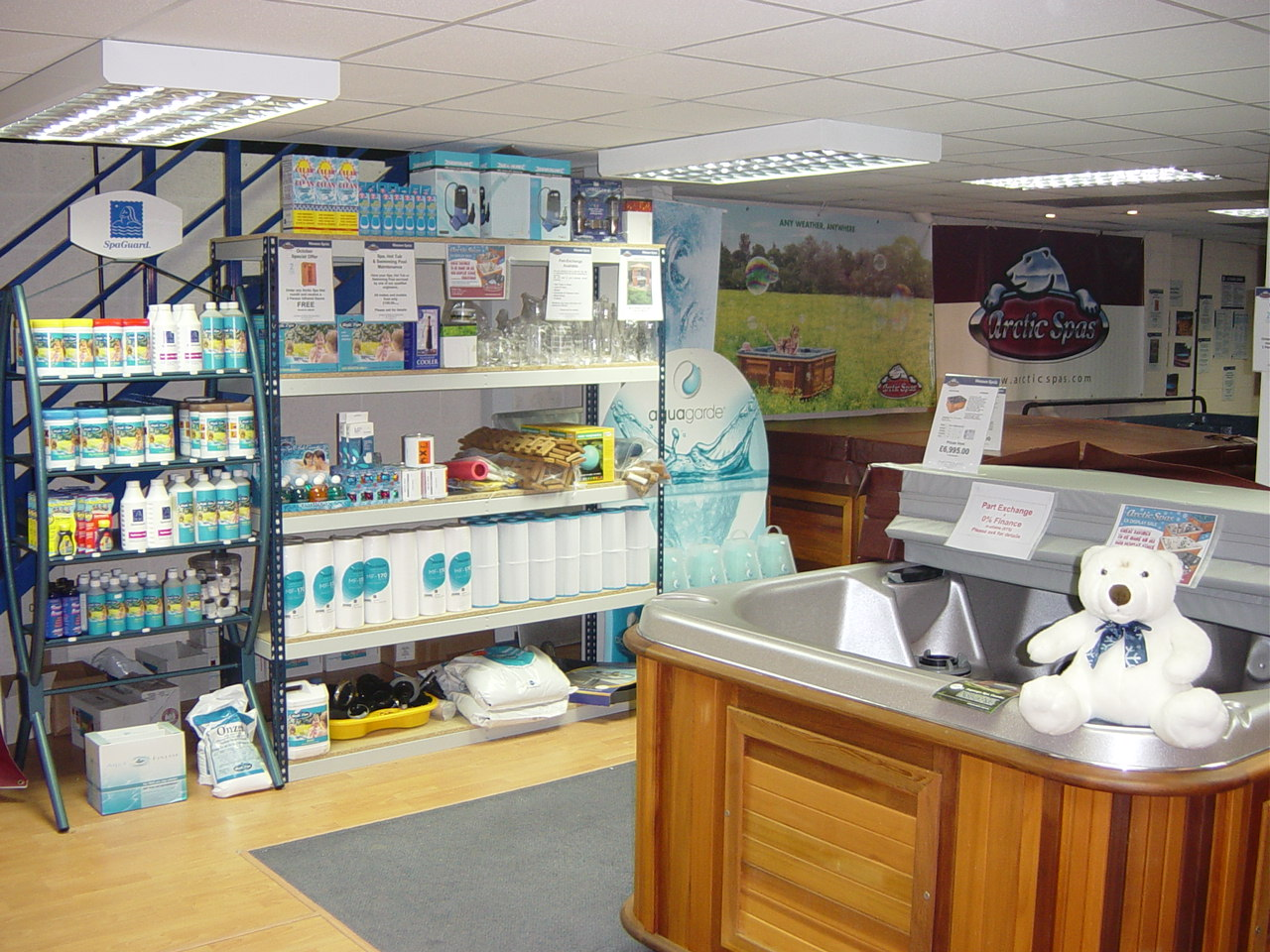 Wessex Spas showroom photo